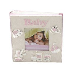 473-3290 Album dziecięcy z masy perłowej - różowy