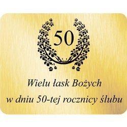 Grawer 4x5 cm, wzór numer 32 - 50 rocznica ślubu