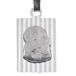 Medalik srebrny diamentowy - Matka Boska Częstochowska MD8