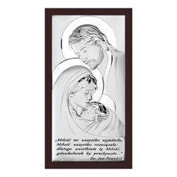 Obrazek Srebrny Święta Rodzina brązowa ramka 6380SWM