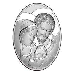 Obrazek Srebrny Święta Rodzina drewniana ramka 6555