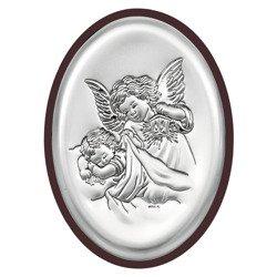 Obrazek srebrny Aniołek z latarenką 6385WM