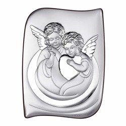 Obrazek srebrny Aniołki z serduszkiem 6519