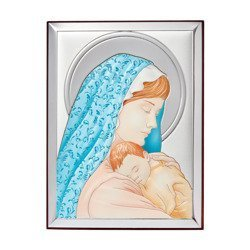 Obrazek srebrny Matka Boska z dzieciątkiem 31134CER