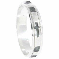 Pierścionek Różaniec srebrny, dziesiątka, obrotowa obrączka na palec wąska, rozmiar 11-27 srebro pr. 925 RPO04