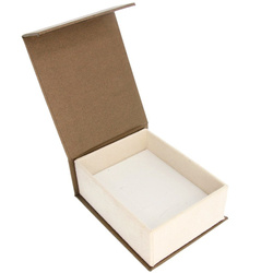 Pudełko na biżuterię eleganckie z grawerem brąz / ecrue P3/BA-6