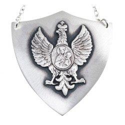 Ryngraf srebrny 925 Orzeł z Matką Boską R22