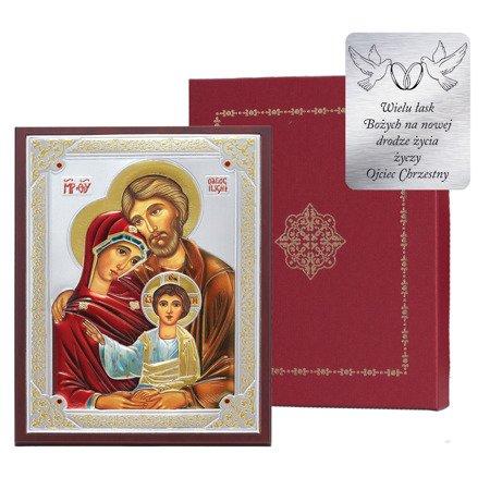 Ikona srebrna Święta Rodzina 31172WDA