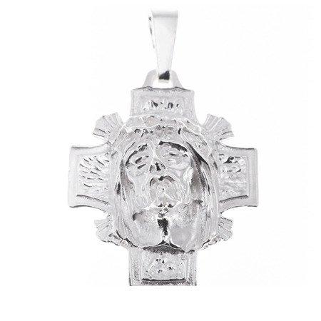Krzyżyk srebrny z wizerunkiem Jezusa MO004