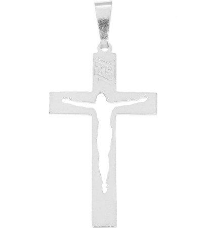 Krzyżyk srebrny z wizerunkiem Jezusa MO149