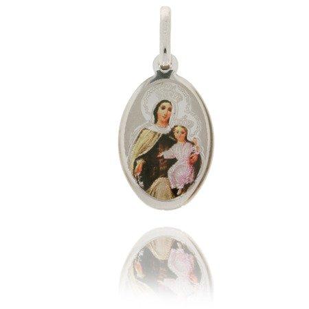 Medalik srebrny (1,6 g) - Szkaplerz Najświętszej Maryi Panny z Góry Karmel ( Szkaplerz ) MK022