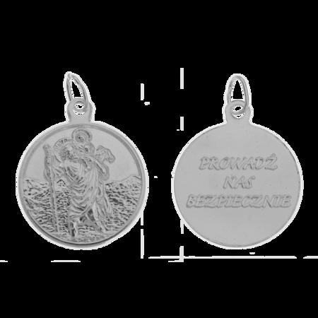 Medalik srebrny - Święty Krzysztof ML023