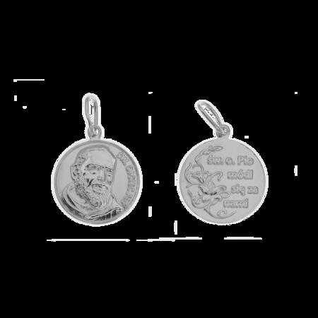 Medalik srebrny - Święty Ojciec Pio ML016