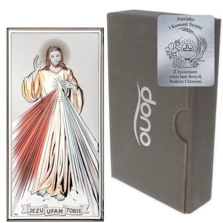 Obrazek srebrny Jezus Miłosierny DS26C
