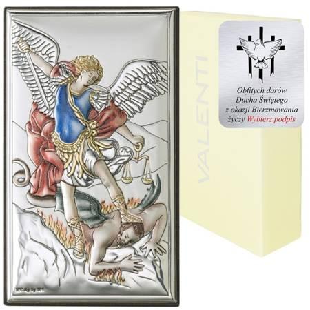 Obrazek srebrny Michał Archanioł 18031COL