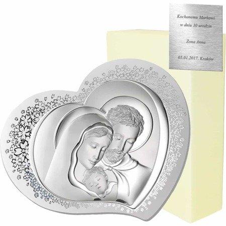 Obrazek srebrny Święta Rodzina 81310