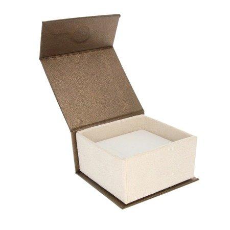 Pudełko eleganckie na pierścionek lub zestaw brąz / ecrue BA-3/A21