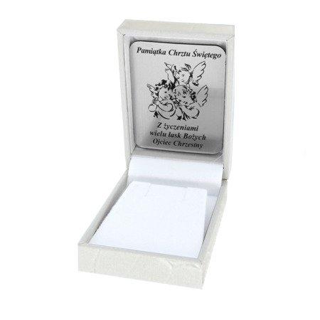 Pudełko skórzane białe na kolczyki PZH-3/NA/A1/GS