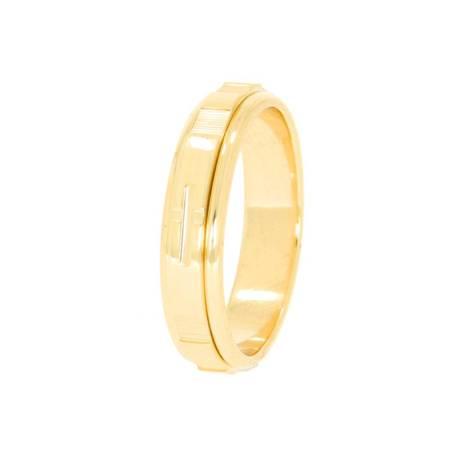Różaniec złoty obrotowa obrączka na palec, rozmiary 16-24  złoto pr. 585 ZRP03