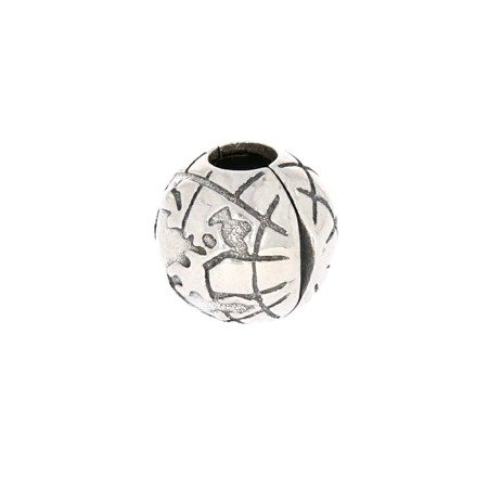 Srebrna przywieszka stoper pr 925 Charms kulka globus PAN035