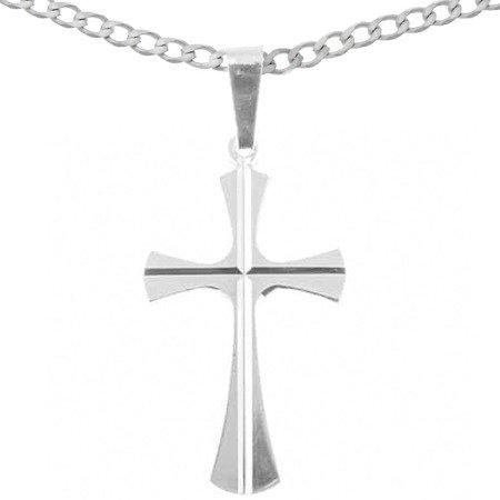 Zestaw srebrny pr. 925 krzyżyk z łańcuszkiem MM126/L50GRF6-50