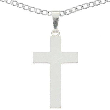 Zestaw srebrny pr. 925 krzyżyk z łańcuszkiem MO145/L50GRF6-50