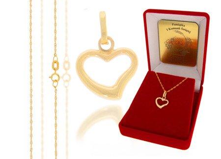 Złoty komplet pr. 585 serce ZP019/ZL004/P7/FLOKCZERW/GZ